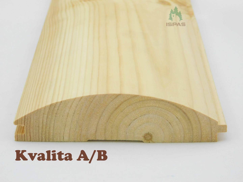 "SRUBOVÁ PALUBKA - PROFIL ,,D"" 36 X 135 X 3000 MM (AB)"